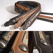 Franklin Southwest Padded Leather Guitar Strap