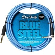 Dean Markley Blue Steel Instrument Cable - Right Angle - Lifetime Warranty